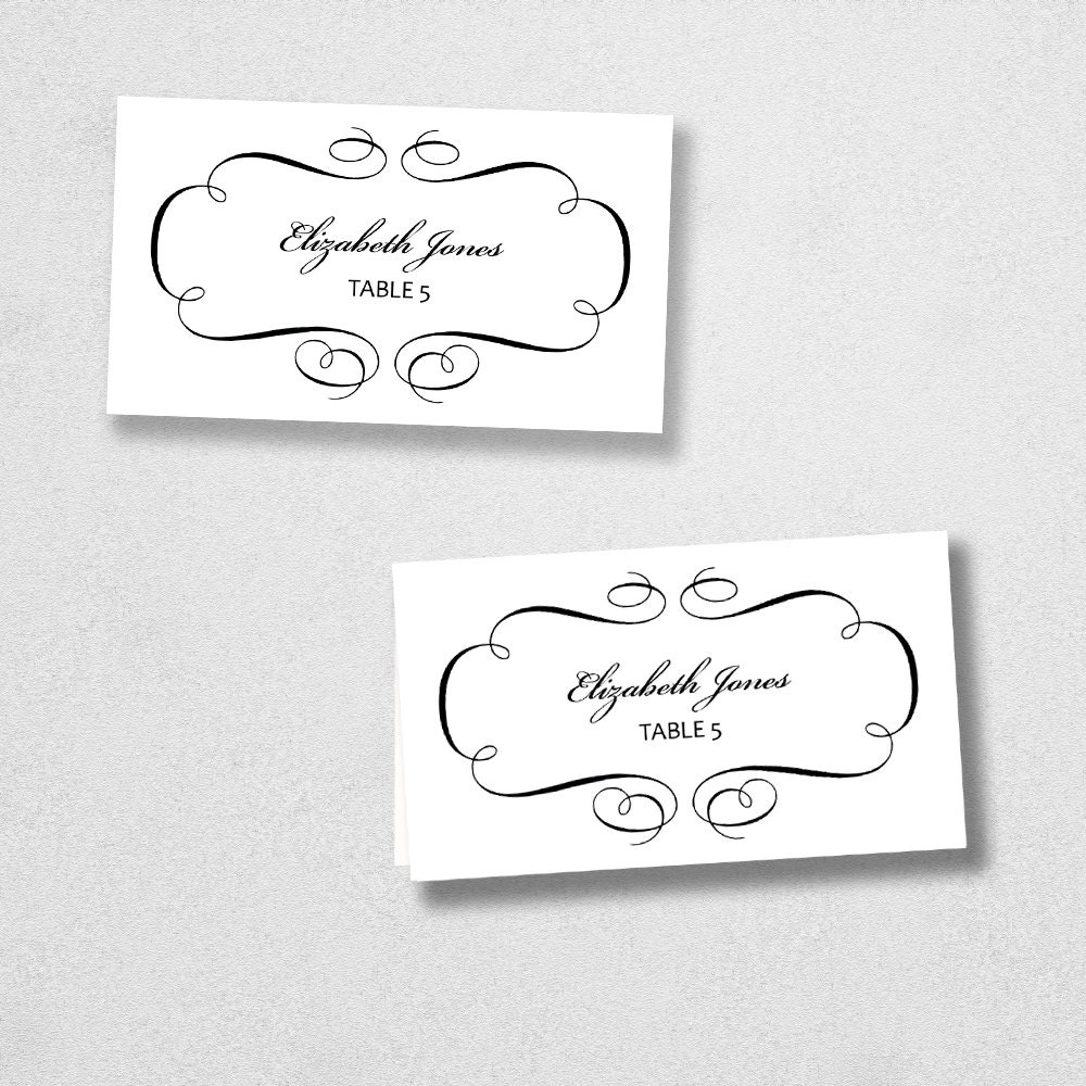 This is an image of Adorable Printable Place Cards Template