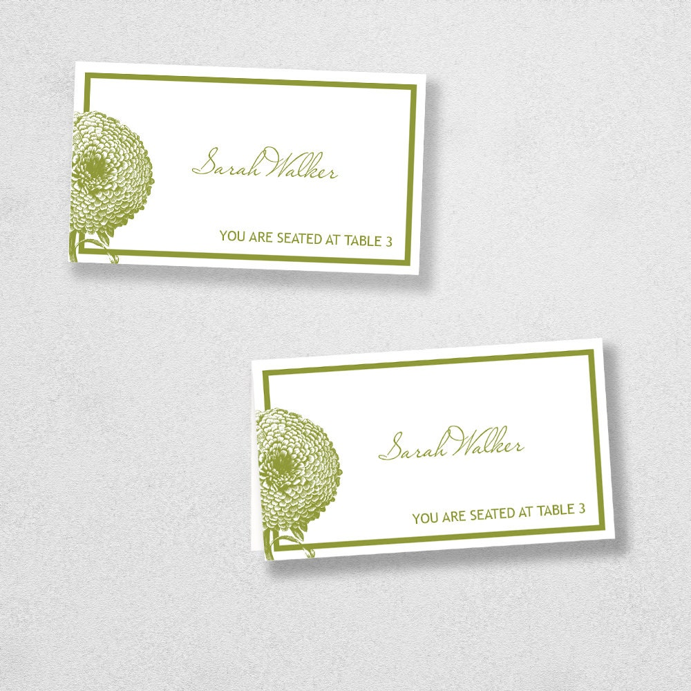 Avery place card template instant download florel design for Avery printable place cards