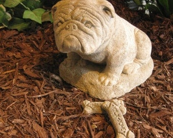 Bulldog Yard Art Etsy