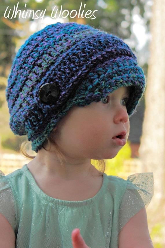 Free Crochet Chunky Newsboy Hat Pattern : Crochet HaT Pattern: Marble Newsboy Crochet Chunky