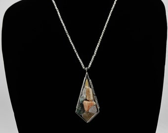 Prehistoric Locket Necklace Gemstone Shark Tooth