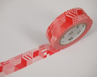 MT red pattern Washi Masking Tape (10M)