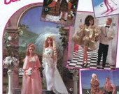Barbie Ken Doll Clothes Pattern 90s Wedding Dress Party Ranch Christmas Sking Simplicity 8797