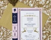 Vintage Book Wedding Invitation Printable