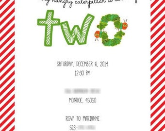 Caterpillar Invitations