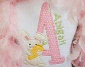 Adorable Easter Bunny Initial Shirt
