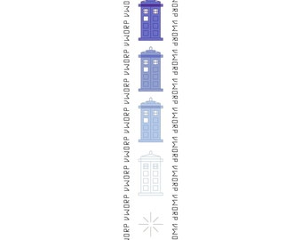 Doctor Who Bookmark Pattern - Disappearing TARDIS