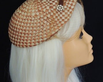 REDUCED! Vintage 1960's Straw Beret Hat