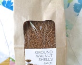 Crushed walnut  shells, ground walnut shells, natural pincushion and sachet filling 2 cups