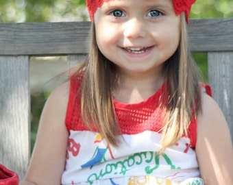New { the Addy } red bow headband . Newborn, toddler, child, teen, adult