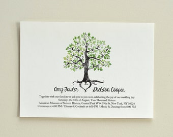The Summer Solstice Tree / Wedding Invitation / DIY Printable PDF Template