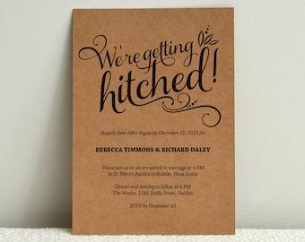 Casual Calligraphy / Kraft Paper Wedding Invitation / DIY Template