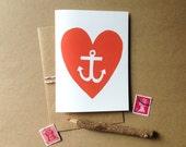 Heart Anchor - Valentine Card