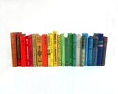 Rainbow Book Collection - 23  Piece Vintage Book Set