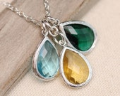 Birthstone Necklace, Personalized Necklace, Personalized Jewelry,  Family Necklace,  Mothers Necklace, Birthstone Jewelry
