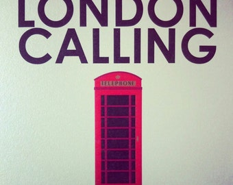 LONDON CALLING telephone booth print