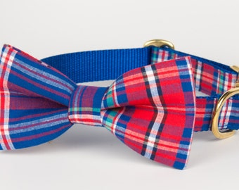 Nantucket Plaid Bow Tie Collar
