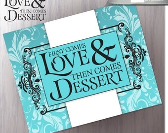Wedding Candy Buffet Sign - Robins Egg Blue - Dessert Station Wedding Reception - LOVE and DESSERT - DIY Printable - Instant Download