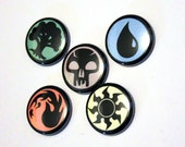 """LIMITED EDITION Magic Gathering Symbol Set - 1"""" Inch pins - Buttons - Pin - Badge"""