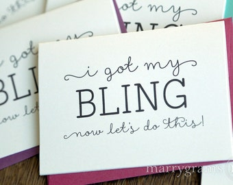Will You Be My Bridesmaid Cards - I Got My Bling! - Maid of Honor, Wedding Party- Cute, Funny Cards for Bridesmaid, Maid of Honor (Set of 6)
