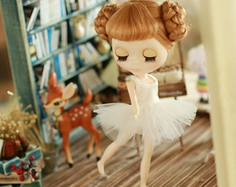 Miss yo 2015 Summer & Autumn - Ballet Dress for Blythe / JerryBerry doll - dress / outfit - White