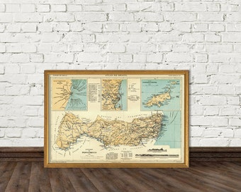 Old map of Pernambuco (Brazil) print - Pernambuco map - Fine reproduction