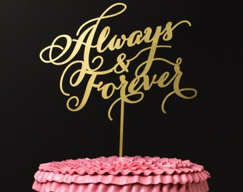 Always and Forever Wedding Cake Topper in Gold - Soirée Collection