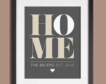 Housewarming Gift, Personalized Housewarming Decor, Home Print, New House Gift