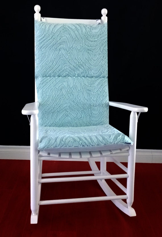 on sale rocking chair cushion cover mint green microplush. Black Bedroom Furniture Sets. Home Design Ideas