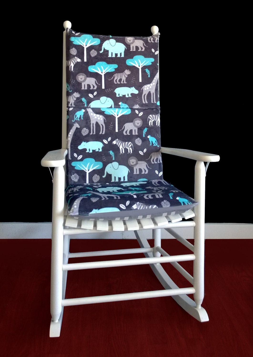 Safari Animals Rocking Chair Covers Foam Inserts And Covers