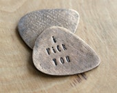 Personalized Bronze Guitar Pick, Custom Message, Handcrafted, Men's Gift, Husband, Boyfriend, Groomsmen, Statement Gift