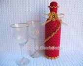 Crochet Pattern 121 - Crochet Wine Bottle Cover Pattern - 750 ml Wine Bottle Cover Pattern - Gift - Birthday - Wedding - Special Occasions