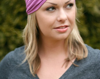 Radiant Orchid Knit Turban Wrap Headband