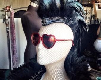 """Feather Mohawk / Headdress  - """"Aliksa"""""""
