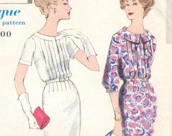 Vintage 1950s day dress pattern -- Vogue Special Design 4979