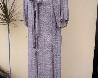 20% OFF Miss Balmain floaty chiffon dress, 70's vintage.