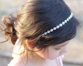 Rhinestone Headband Flower Girl Headband Headpiece Wedding Bridal Child Headband Baby Girl Christening