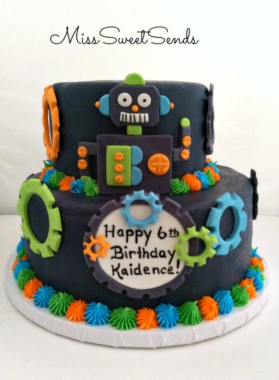 Items similar to Robot Cake Topper , Robot Toppers , Robot ...