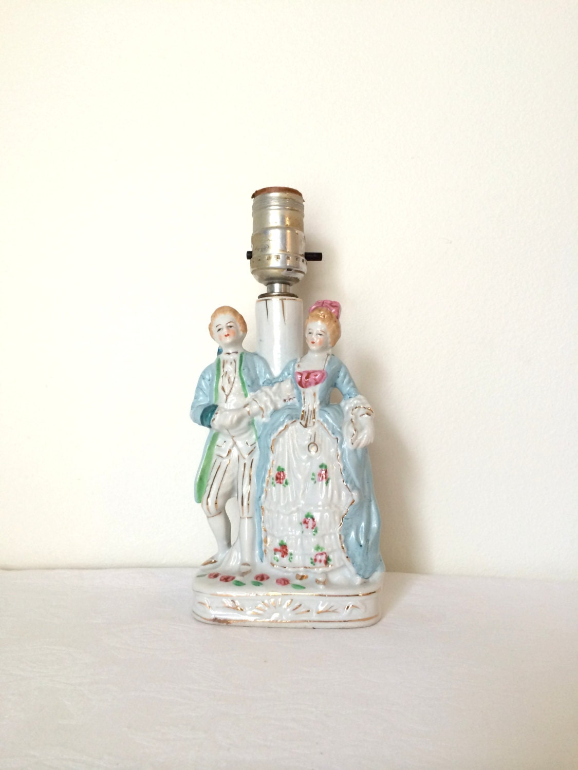 Vintage Figurine Lamp Fairyland China Table By