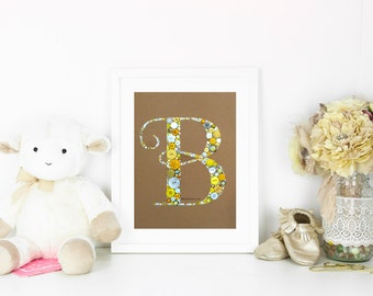 Nursery Initials Button Art Monogram Swarovski Rhinestones Custom Monogram Great For Wedding Gift or Baby Shower Gift button letters