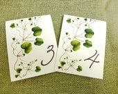 Ivy Table Cards, Ivy Table Numbers, Double sided Wedding Table Cards, Ivy Wedding Decor, Green Ivy decoration, Garden Wedding Cards,