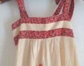 Vintage Embroidered Sun Dress