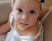 Boho Baby/Toddler Headband with Three Flowers - You Choose Colors