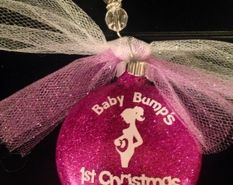 Baby Bump Ornament Pregnancy Ornament  Pregnancy Announcement