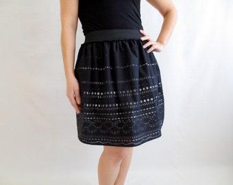 Black skirt,Lace skirt,Cotton skirt,Womens clothing,Aline skirt,Knee length skirt,Mini skirt,Boho skirt,petite