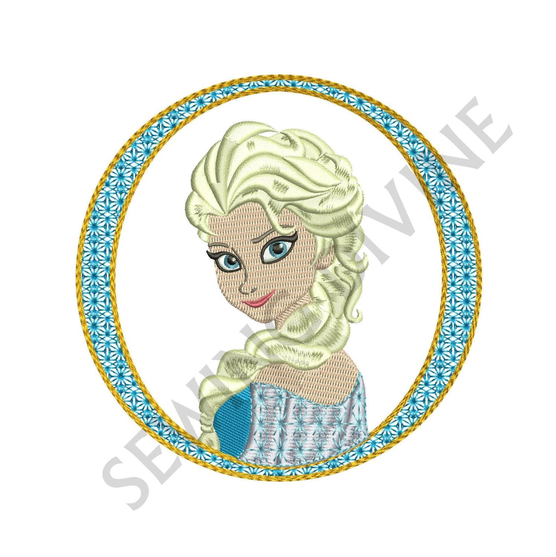 ELSA FROZEN Portrait EMBROIDERY Design Download By