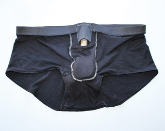 Custom Bamboo FTM Packing Harness Brief Underwear (For STP or Soft Pack) /Any Size  /Made to Measure /8+ Colors