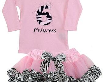 Pink Zebra 6th Birthday Outfit, Zebra Tutu, Zebra Themed Party, Girls 6th Birthday Zebra Outfit, 6th Birthday Party, Personalized Shirt