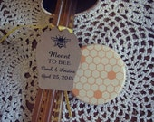 Meant To Bee Tag SMALL Honey Stick Jar Love is Sweet Wedding Favour Honey Gift Favour