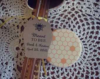Meant To Bee Tag Favor Wedding Gift Take Home Honey Sweet Love is Sweet as Honey SMALL Honey Stick Jar Love Sweet Favour Honey Gift Favour